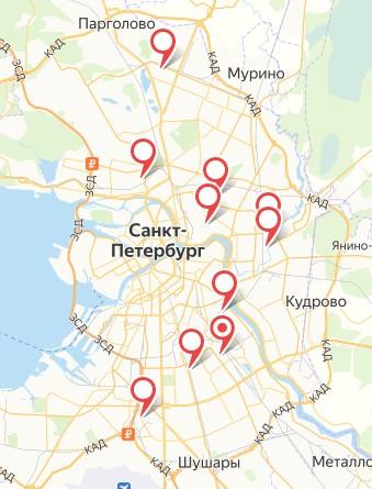 Автосервисы на карте
